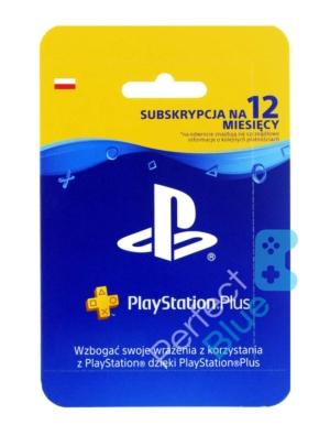 Subskrypcja PS Store PlayStation Plus 365 dni 1 rok / ZDRAPKA