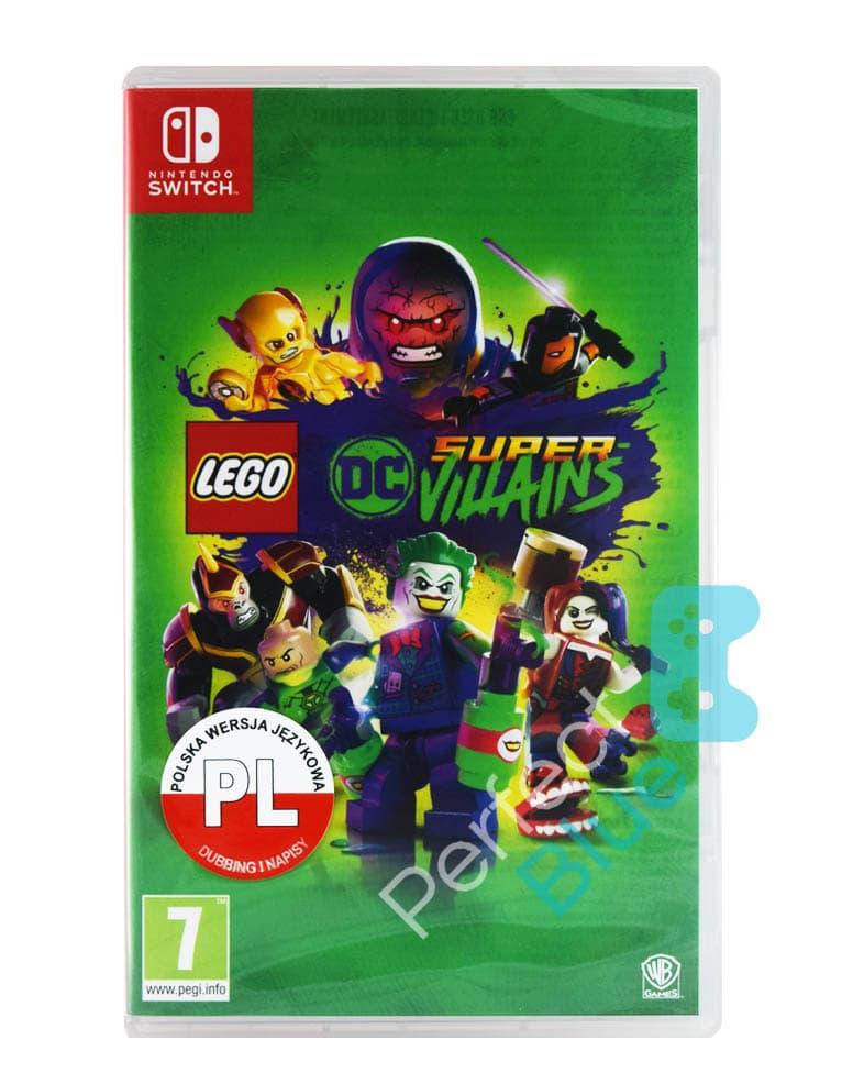 lego dc super villains super zloczyncy gra nintendo switch przod logo