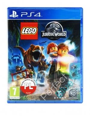 lego jurassic world gra ps4 ps5 przod logo pl