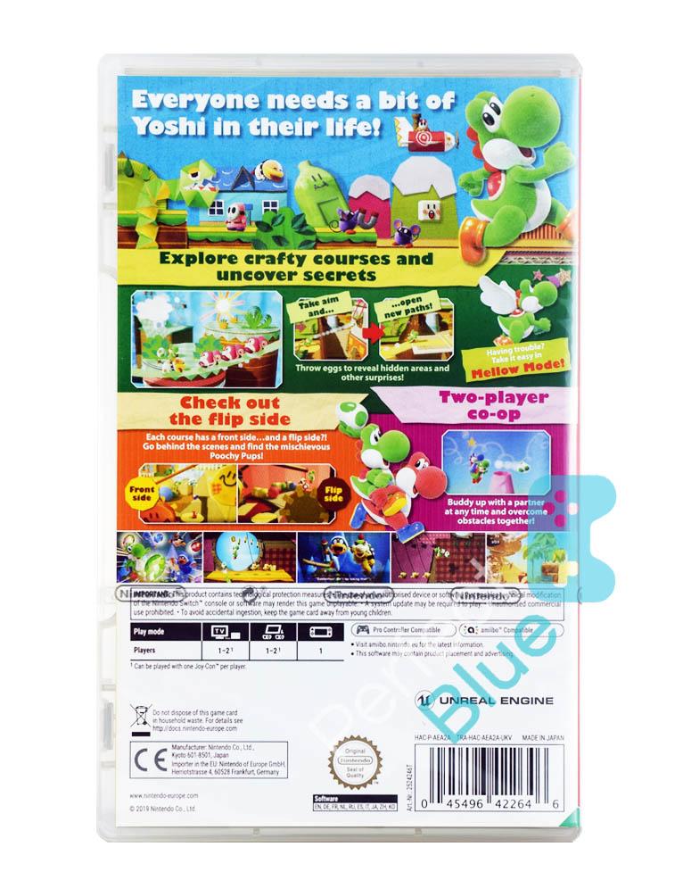 Gra Nintendo Switch Yoshi's Crafted World + Futerał na Kartridże + Naklejki