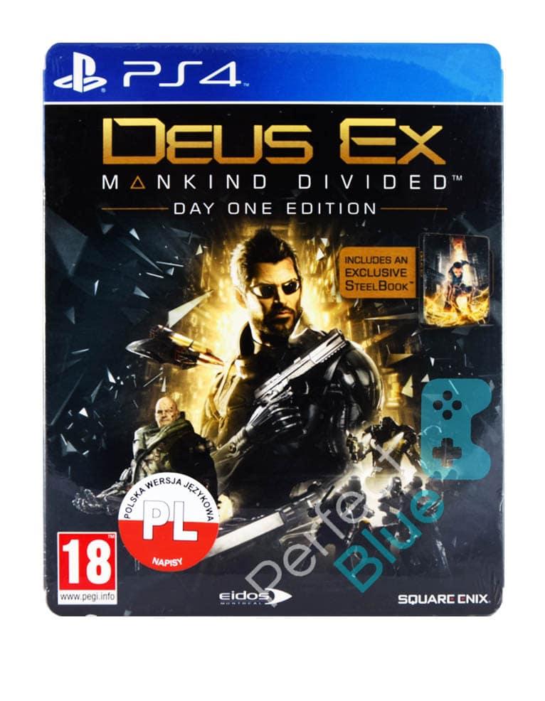 Gra PS4 Deus Ex Mankind Divided Day One Edition PL + Steelbook