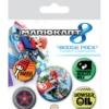 Gadżet Metalowe Przypinki Mario Kart 8