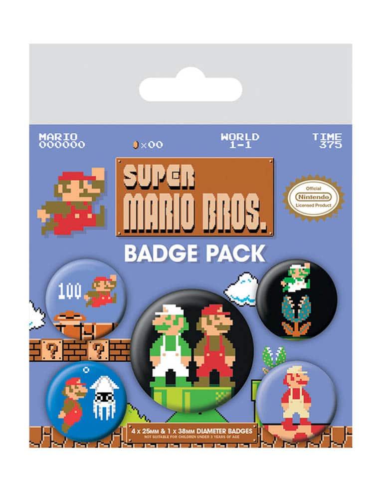 Gadżet Metalowe Przypinki Super Mario Bros. Retro
