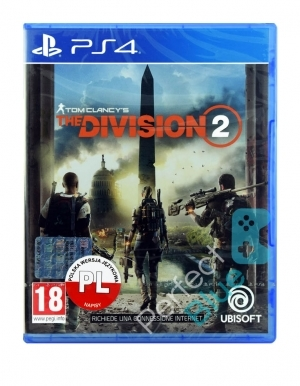 Tom Clancys The Division 2 Gra Ps4 Przod Logo