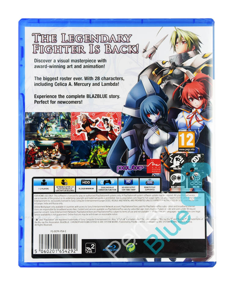 Gra PS4 BlazBlue Chrono Phantasma Extend