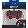 Nacon Czerwony Świecący Przewodowy Pad Kontroler do PS4