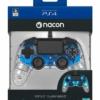 Nacon Pad Kontroler PS4 Świecący Niebieski