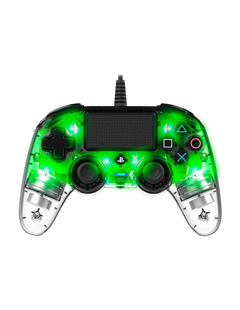 Nacon Zielony Świecący Przewodowy Pad Kontroler do PS4
