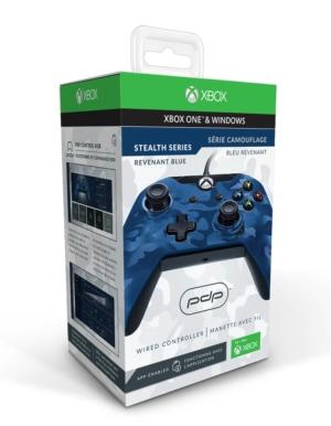 PDP Pad Kontroler Przewodowy - Xbox One / PC - Camo Niebieski