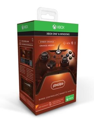 PDP Pad Kontroler Przewodowy - Xbox One / PC - Pomarańczowy