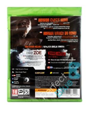 Gra Xbox One Resident Evil VII Biohazard 7 Edycja GOLD