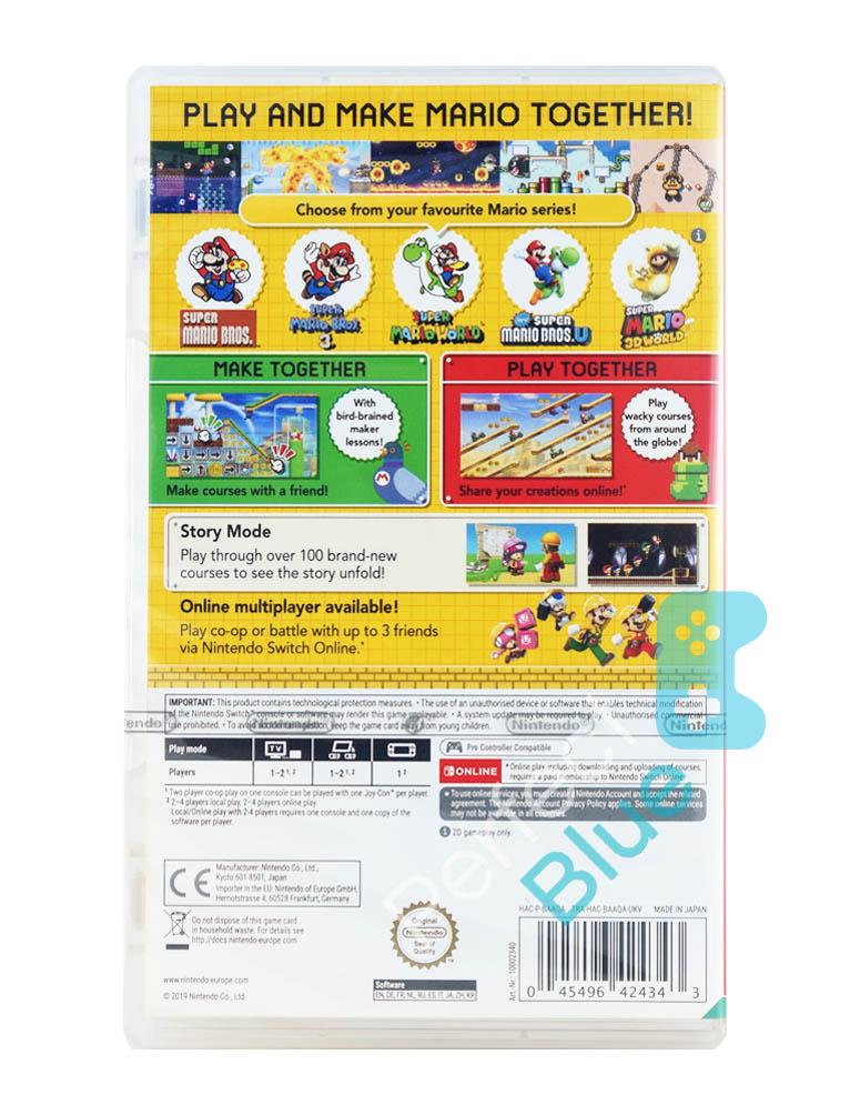 Gra Nintendo Switch Super Mario Maker 2 + Brelok+ Naklejki + Blok