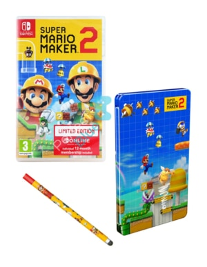 Gra Nintendo Switch Super Mario Maker 2 Limited Edition + Steelbook + Stylus