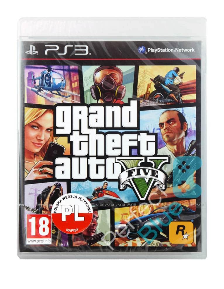 Gta V Grand Theft Auto 5 Angielska Gra Ps3 Przod Logo