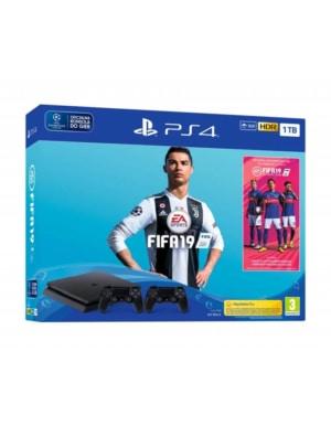 Konsola Sony PlayStation 4 PS4 Silm 1TB 1000GB + Dodatkowy Pad + Fifa 19