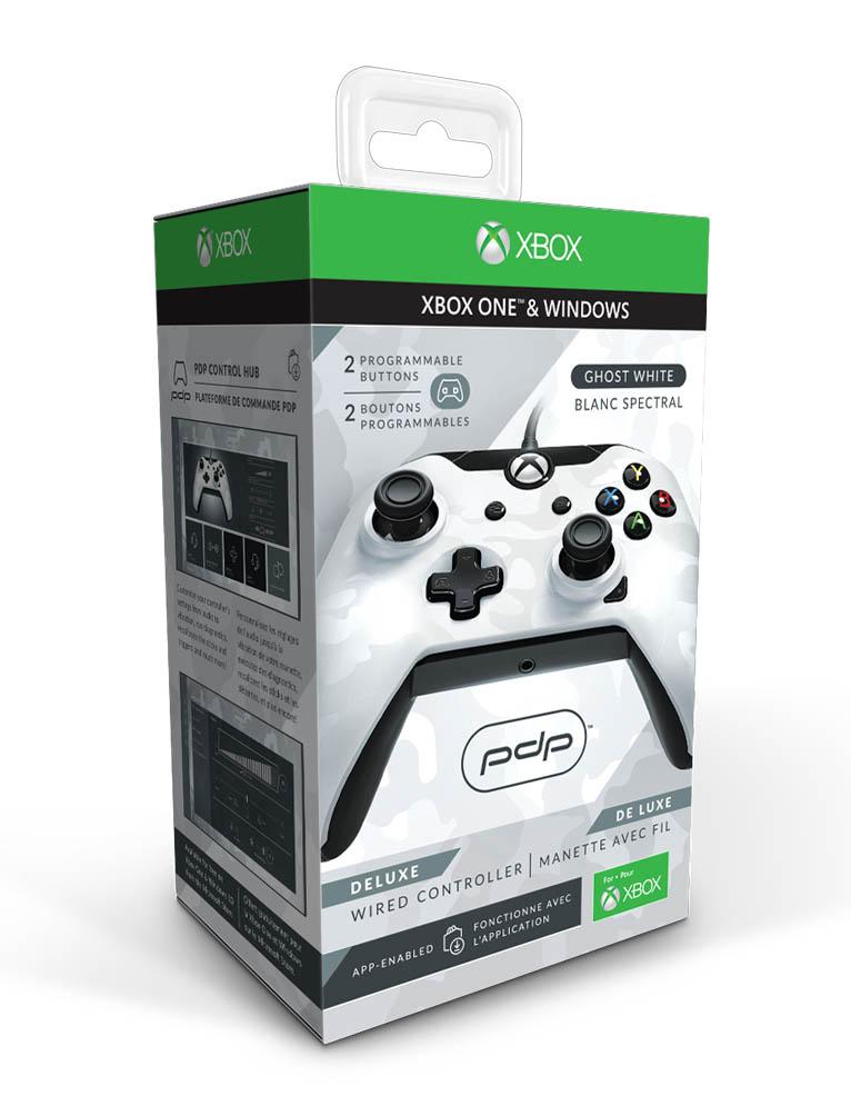 PDP Pad Kontroler Przewodowy Deluxe – Xbox One / PC – Biały Moro