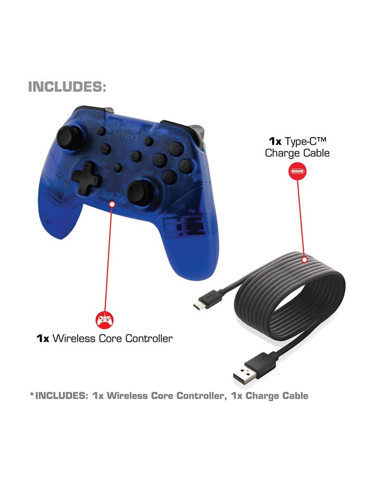 Nyko Bezprzewodowy Kontroler / Pro Controller / Nintendo Switch / Niebieski