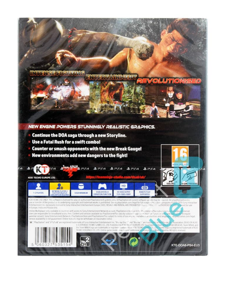Gra PS4 Dead or Alive 6 + Steelbook