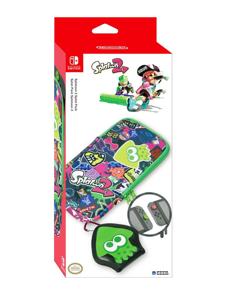Hori Etui Pokrowiec - Nintendo Switch - Splatoon 2 + Nakładki na Analogi + Etui na Kartridże
