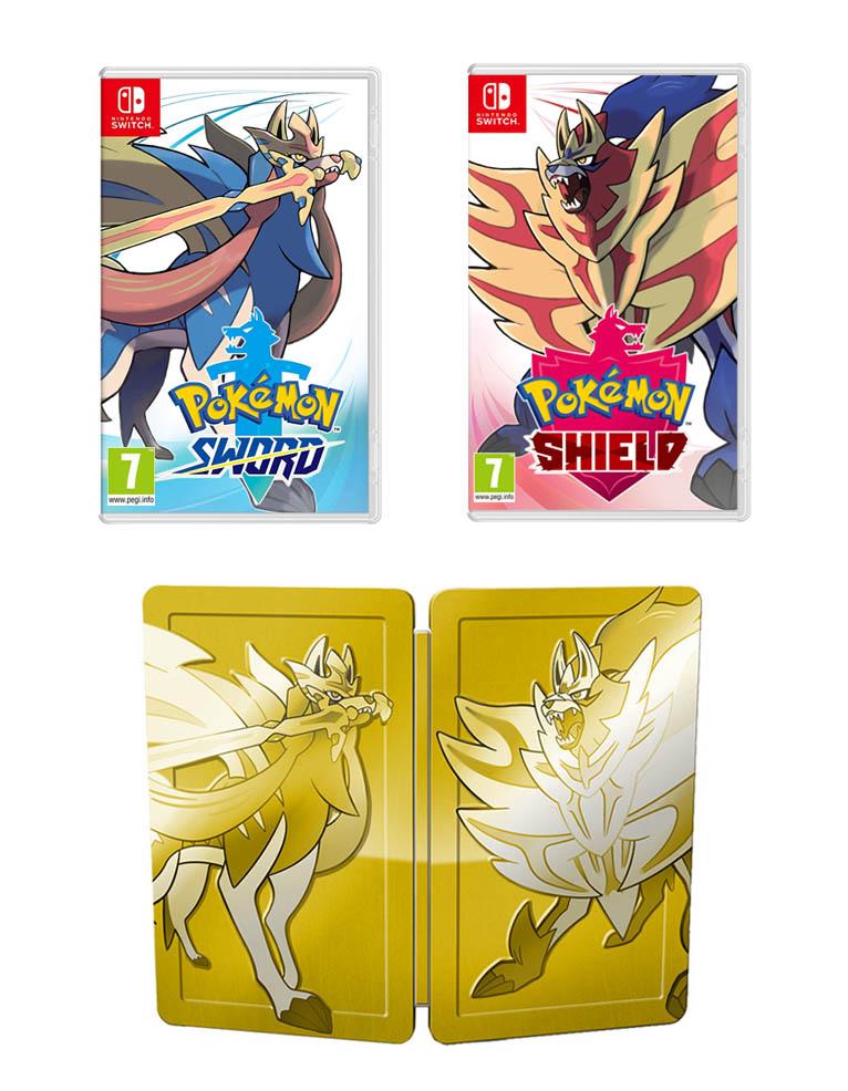 Gra Nintendo Switch Pokemon Shield and Sword Dual Pack + Steelbook!