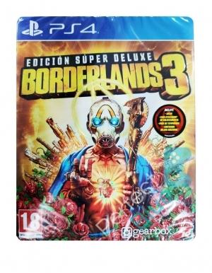Borderlands 3 Super Deluxe Edition Steelbook Gra Ps4 Przod Logo Hiszpanska
