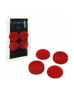 Nakładki PS4 na analogi Concave and Convex 4 sztuki / Czerwone