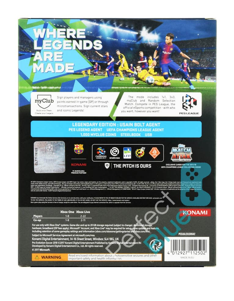 Outlet / Gra Xbox One PES 2018 Pro Evolution Soccer Legendary Edition