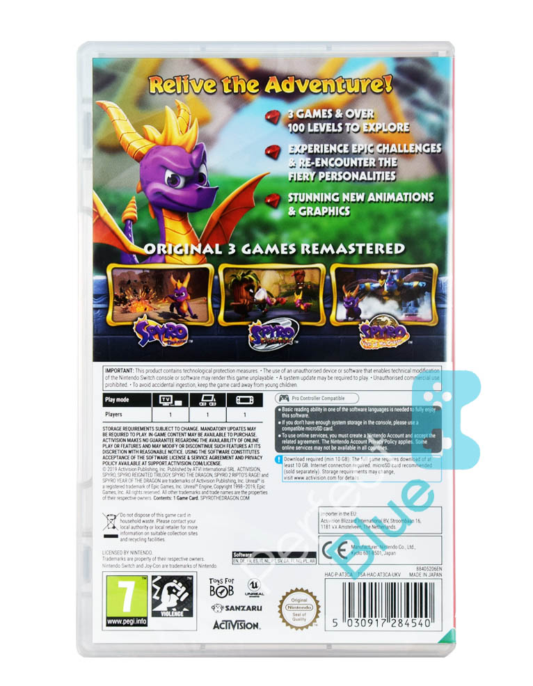 Gra Nintendo Switch Spyro Reignited Trilogy