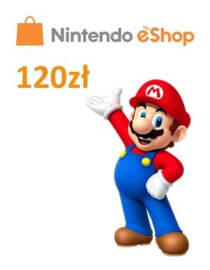 Kod doładowujący Nintendo eShop 120zł / Wysyłka na email / Automat 24h