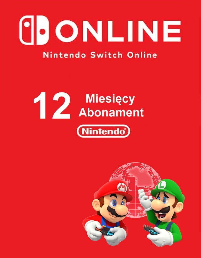Kod na Abonament 12 miesięcy (80zł) Nintendo Switch Online / Email / Automat 24h