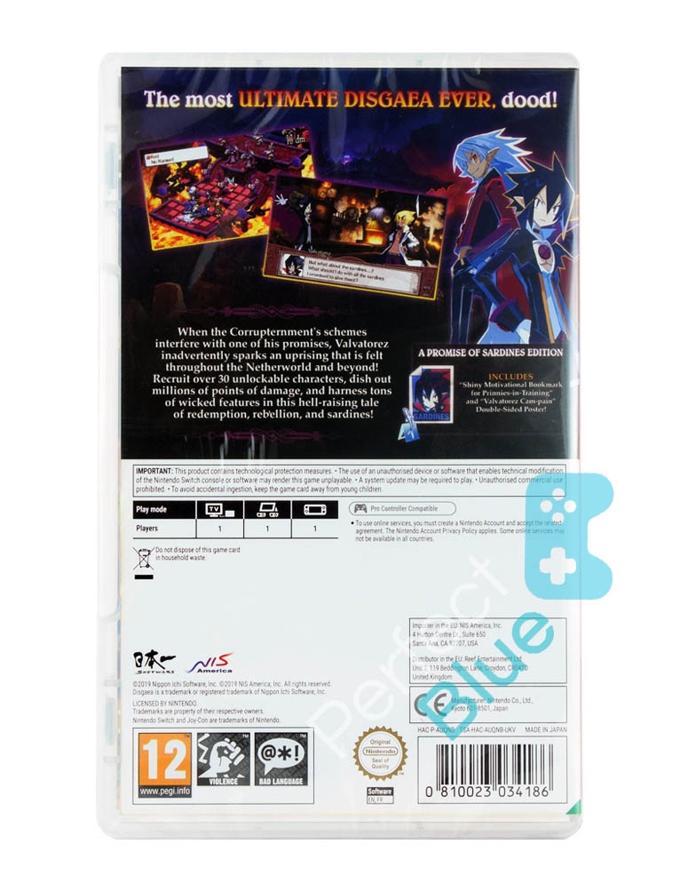 Gra Nintendo Switch Disgaea 4 Complete+ A promise of Sardines Edition