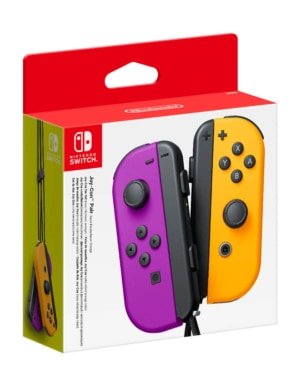 Kontrolery Nintendo Switch Joy-Con Neon Purple-Orange Fioletowy i Pomarańczowy