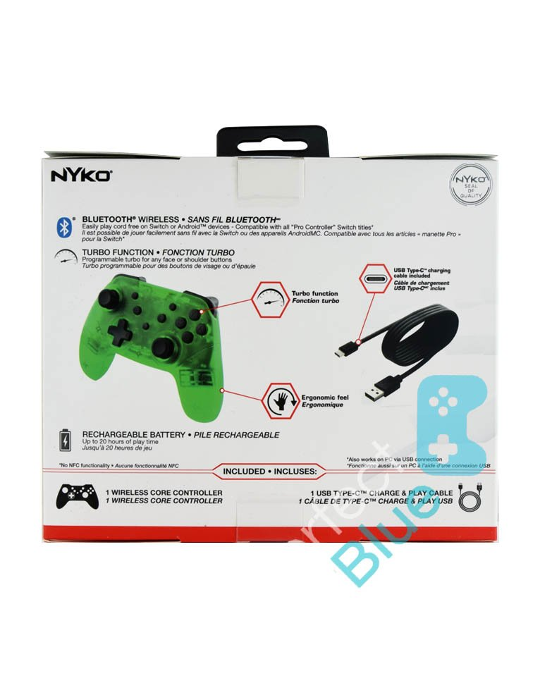 Nyko Bezprzewodowy Kontroler / Pro Controller / Nintendo Switch, PC / Zielony