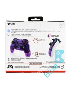 Nyko Bezprzewodowy Kontroler / Pro Controller / Nintendo Switch, PC / Przezroczysty Fioletowy