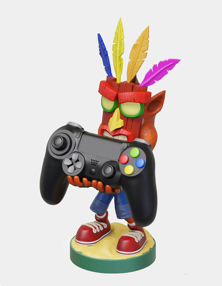 Cable Guys Figurka / Stojak na Kontroler lub Telefon Crash Bandicoot: Aku Aku