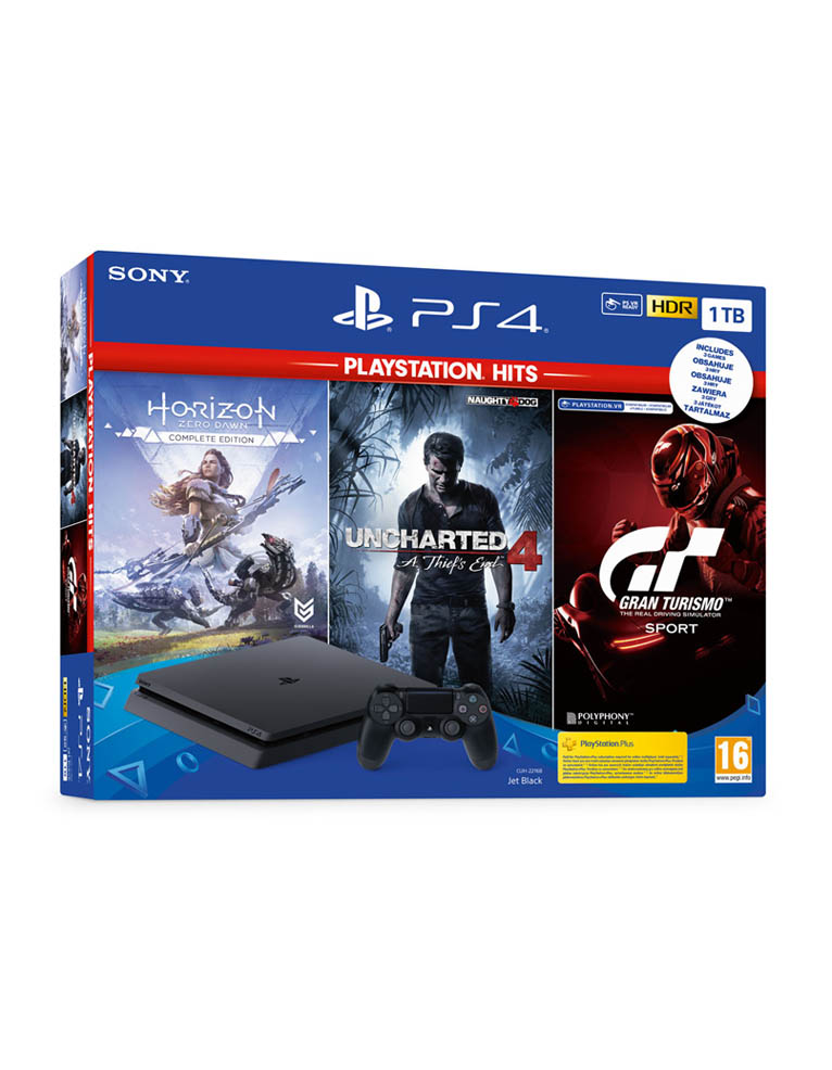 Konsola Sony PlayStation 4 PS4 Silm 1TB + 3 gry