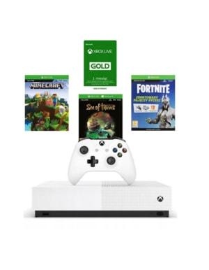 Konsola Microsoft Xbox One S 1TB All Digital / Brak Napędu /+ 3 Gry