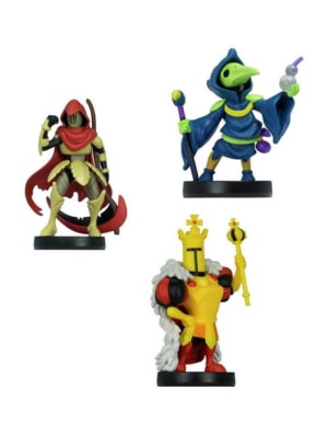 3 Figurki Amiibo - Shovel Knight: Specter Knight / Plague Knight / King Knight