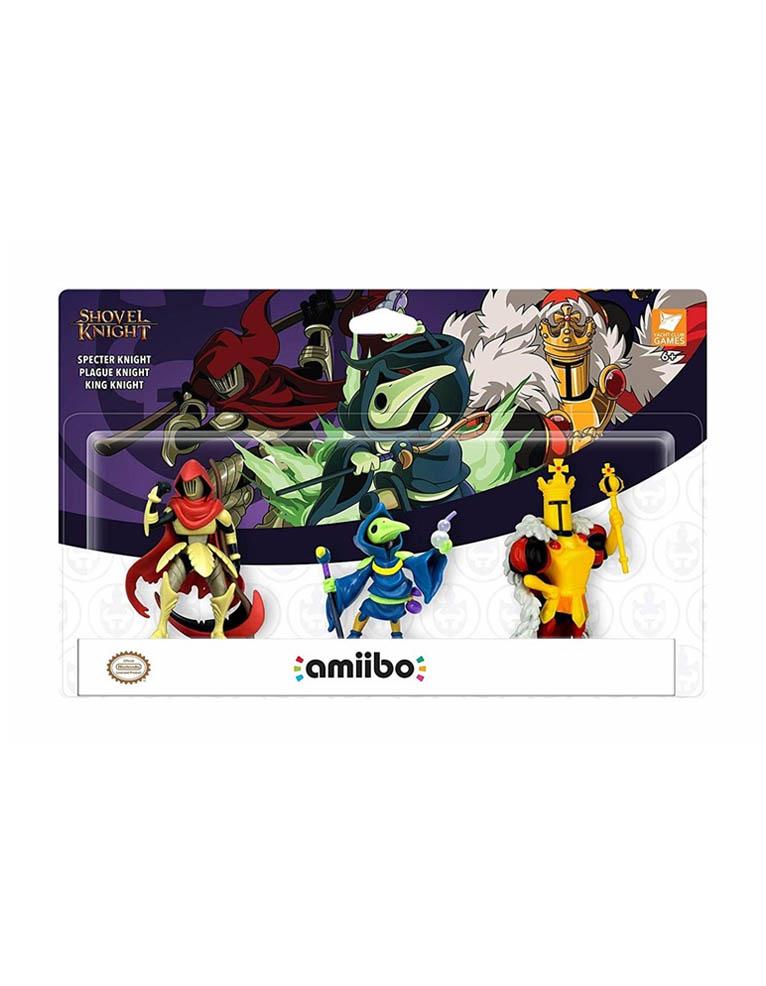 3 Figurki Amiibo - Shovel Knight: Specter Knight / Plague Knight / King Knight