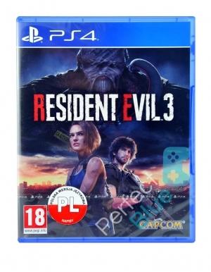 Resident Evil 3 Gra Ps4 Przod Logo