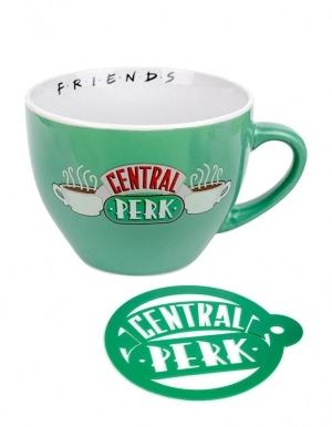 Gadżet Kubek Przyjaciele Central Perk Zielony + Podkładka