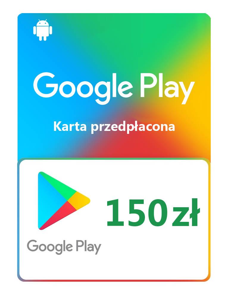 Kod / Doładowanie Android Google Play 150 zł / wysyłka na email / Automat 24h