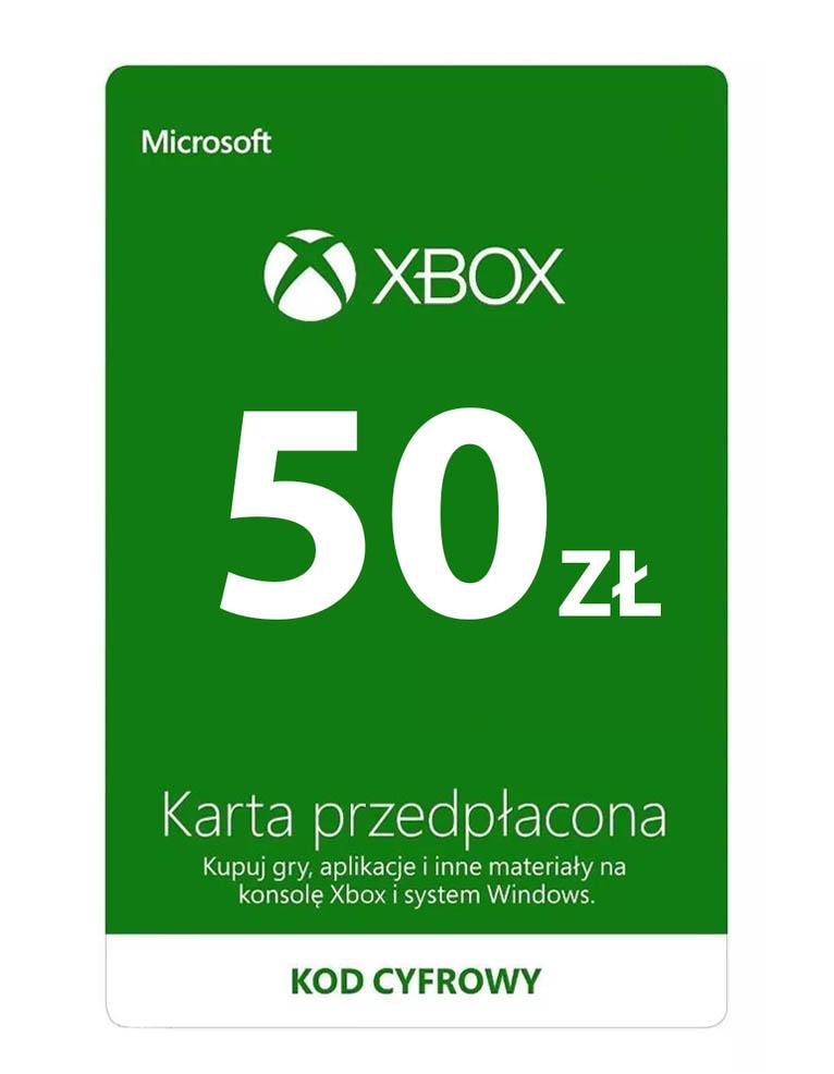 Kod / Klucz / Doładowanie Xbox & Windows 50 zł / wysyłka na email / Automat 24h