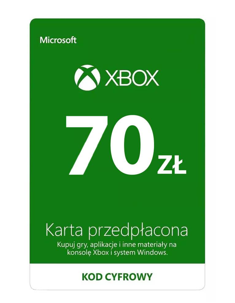 Kod / Klucz / Doładowanie Xbox & Windows 70 zł / wysyłka na email / Automat 24h