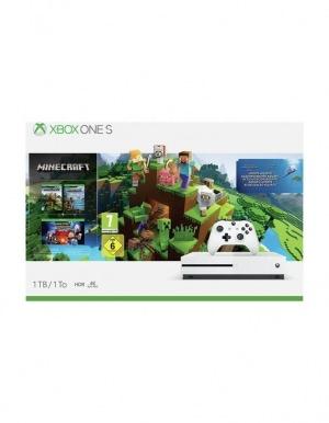Konsola Microsoft Xbox One S 1TB + Pakiet Minecraft