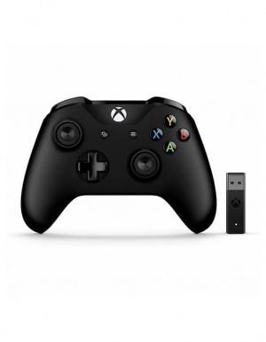 Pad kontroler bezprzewodowy Xbox One Czarny + adapter USB do PC + przedłużacz