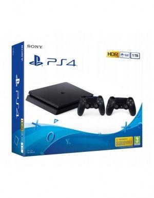 Konsola Sony PlayStation 4 PS4 Silm 1TB / 2 Pady w zestawie