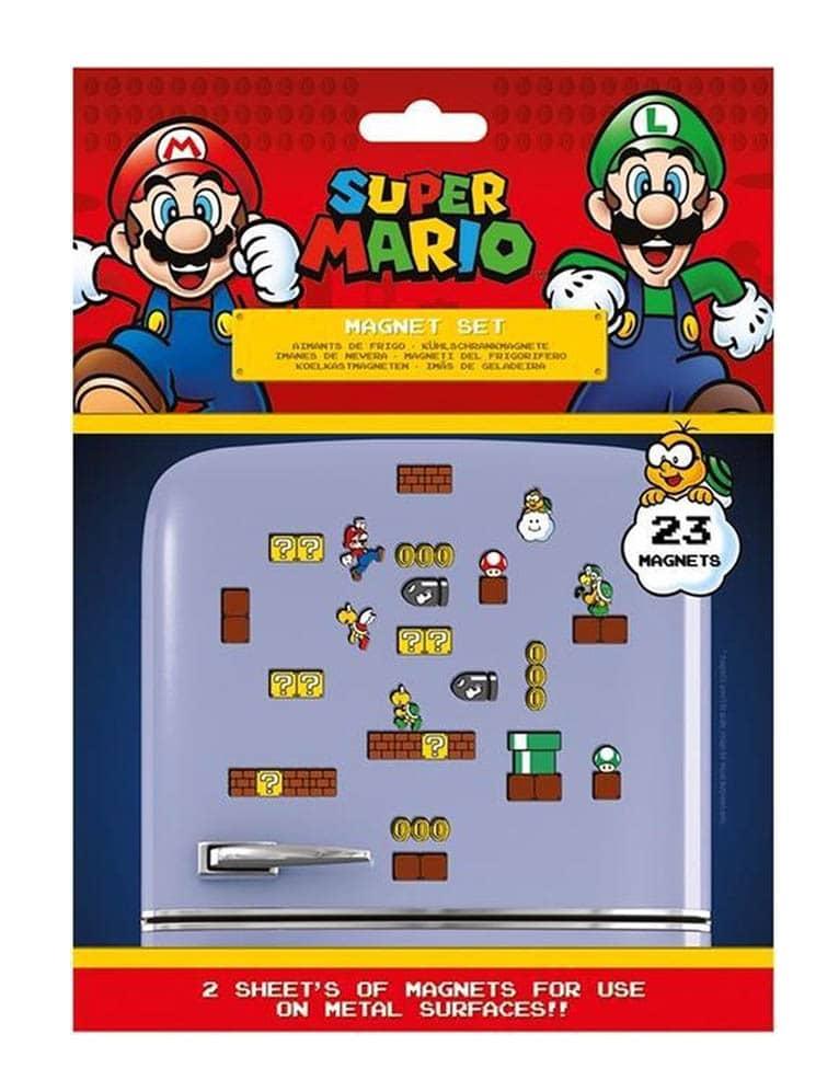 Gadżet Super Mario / Zestaw 23 Magnesów