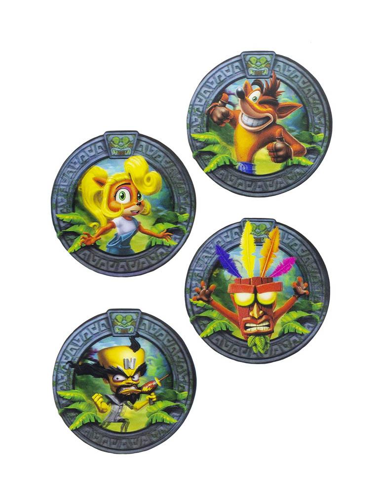 Gadżet Podkładki Crash Bandicoot 3D / 3D Coasters