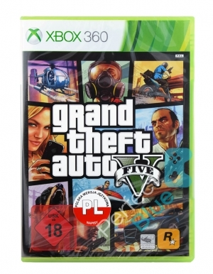 Gta V Grand Theft Auto 5 Niemiecka Gra Xbox 360 Przod Logo
